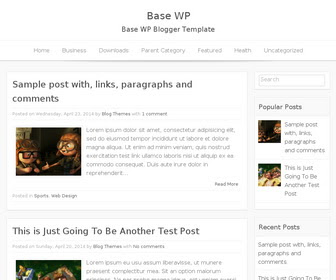 Template Blog SEO Simple, Bersih, Ringan, dan Gratis Base-WP