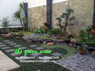 tukang taman murah pembuat atau jasa pembuatan taman kering minimalis di halaman luar maupun di dalam rumah dengan harga yang paling murah