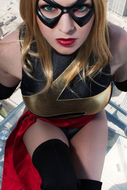 Ms marvel cosplay costume  tits