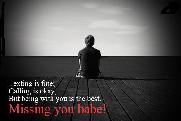 Love Text Messages Quotes Poems And Sms 60 I Miss You Babe Quotes Impressive Bbe I Love You