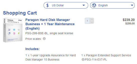 Paragon Hard Disk Manager Business Discount Coupon
