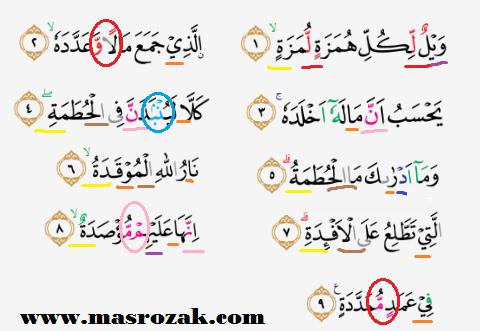 Tajwid Surat Al Humazah Masrozak Dot Com
