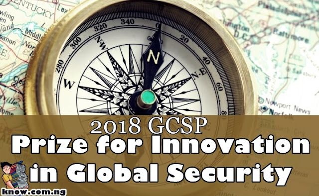 Apply For The 2018 GCSP Prize for Innovation in Global Security