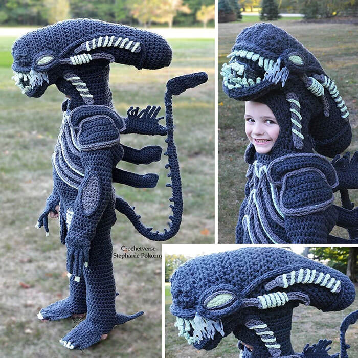 Amazing Mom Crochets Full Body Halloween Costumes For Her Children