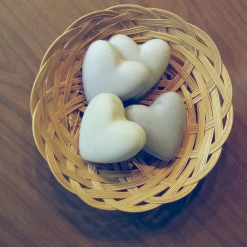 DIY Faux Concrete Hearts