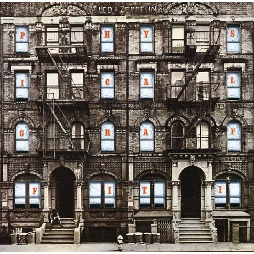Ssk 19419 queen of hearts label led zeppelin physical graffiti.