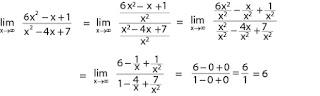 Contoh soal limit fungsi tak hingga dan pembahasannya nomor 1