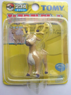Stantler Pokemon Figure Tomy Monster Collection yellow package series