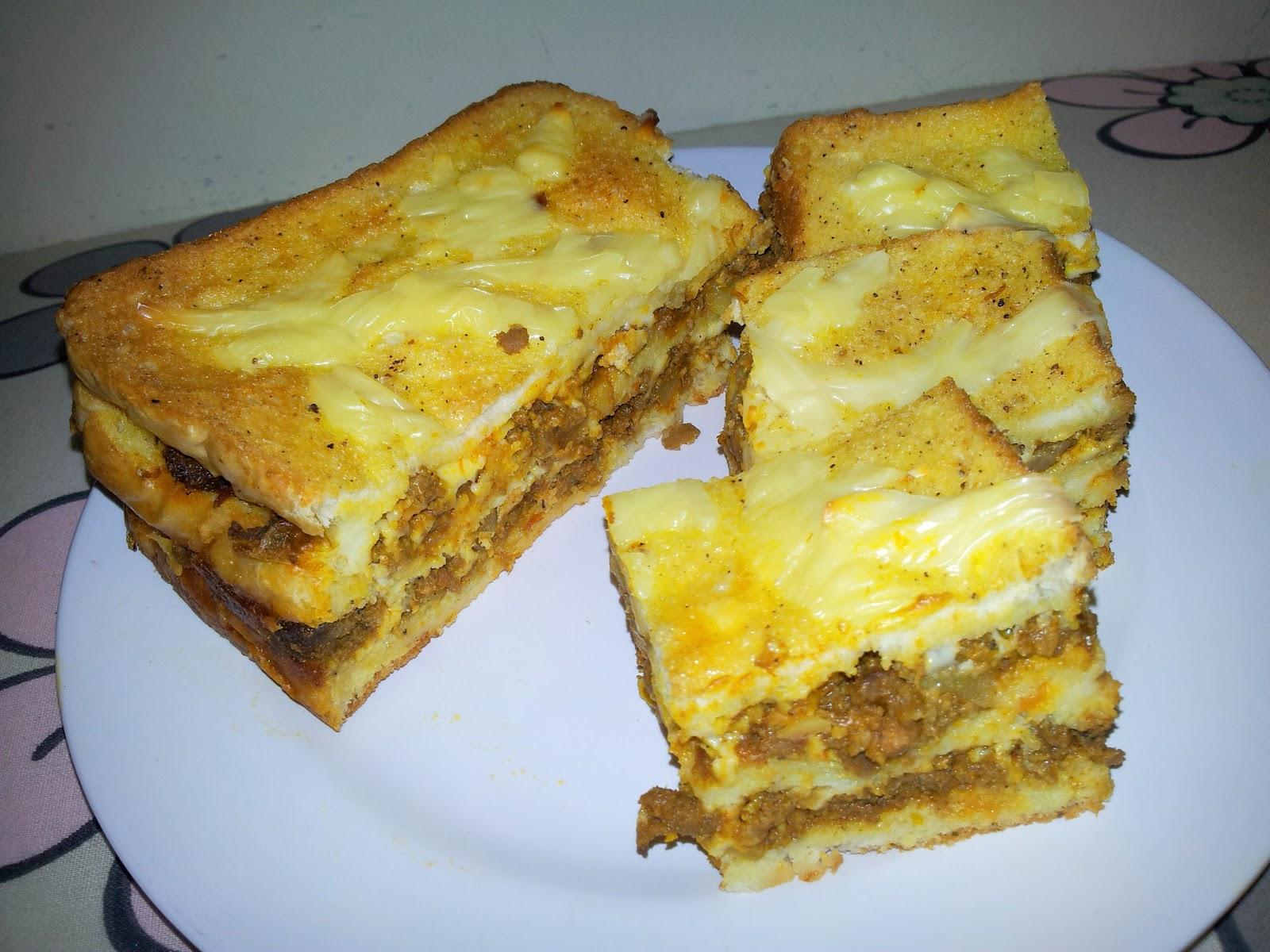 emmymazli resepi roti lapis daging berkeju  lagsana melayuyummy Resepi Roti Farina Enak dan Mudah