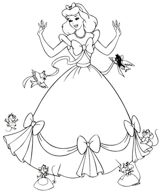 tranh tô màu công chúa Disney 21