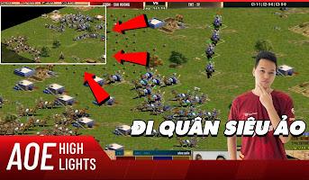 AoE Highlight | Turn đi quân như map sáng của Chim Sẻ khiến Tiểu Màn Thầu nuốt hận