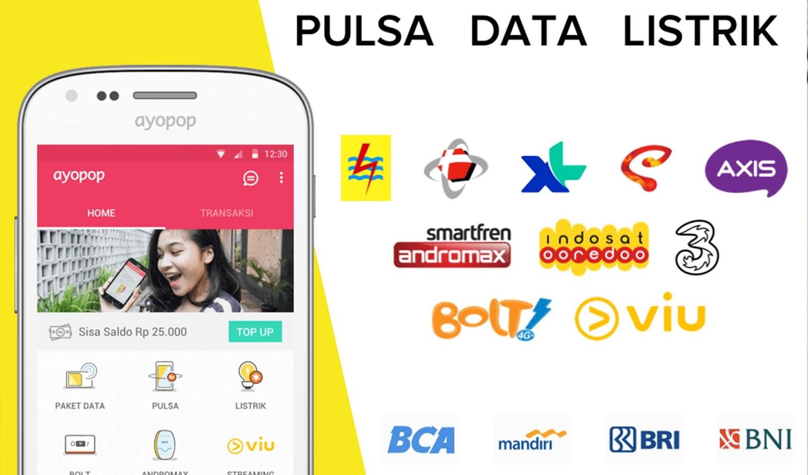 Ayopop Aplikasi Untuk Berjualan Pulsa Dan Token Listrik Termurah