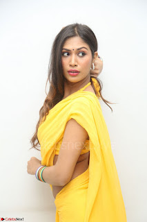 Nishigandha in Yellow backless Strapless Choli and Half Saree Spicy Pics 056.JPG