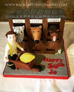 horse stables themed cake