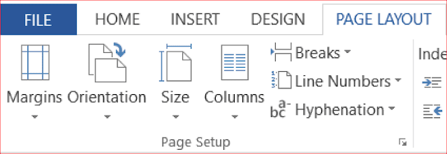 document setup or page setup in Microsoft word - rean computer 101