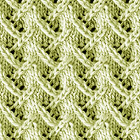 Zig Zag Lace Knitting Pattern, very pleasant to knit.