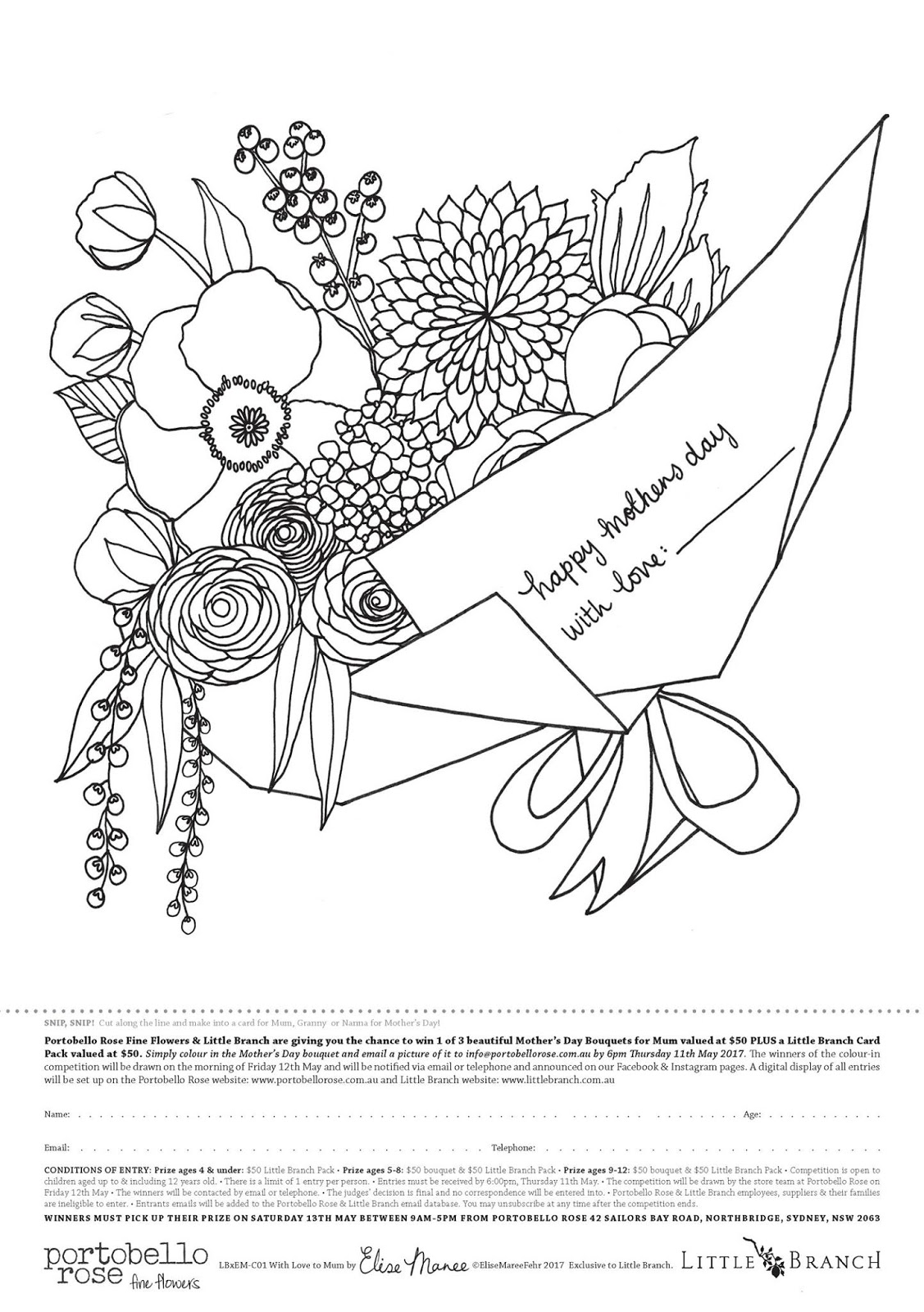 elise maree colouring in competition