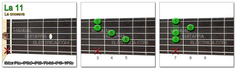 Acordes Guitarra La Onceava - A 11