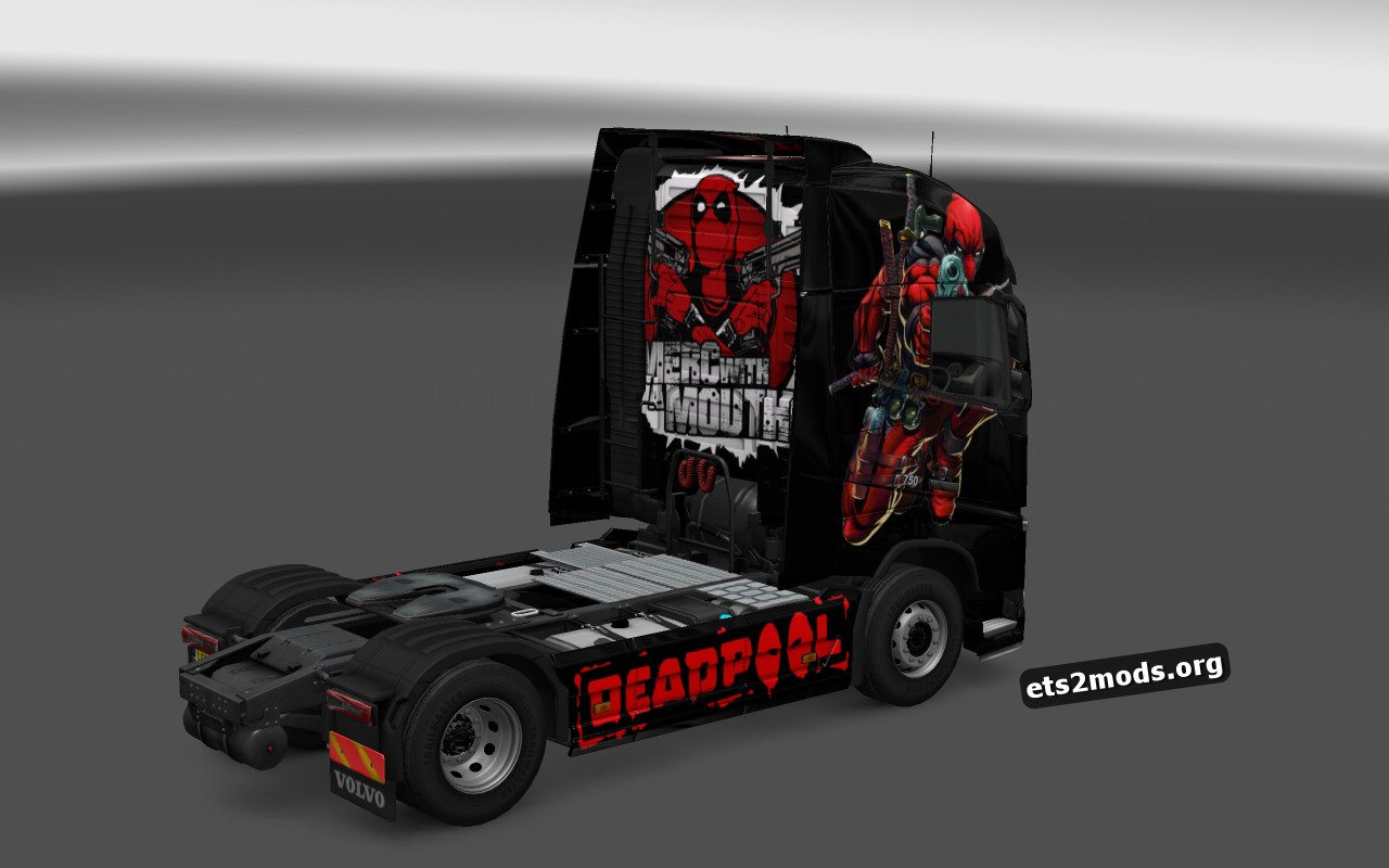 Dead Pool Skin for Volvo 2012