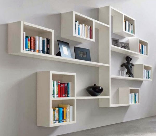 Floating Living Room Wall Shelves