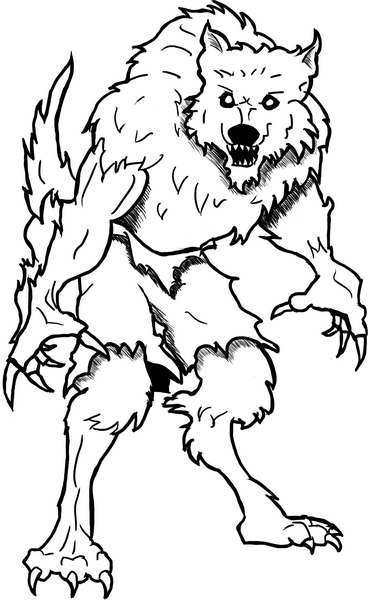 werewolf coloring pages - photo#9