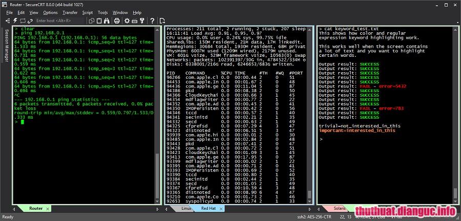 Download SecureCRT and SecureFX 8.5.2 Full Cr@ck – Phần mềm giả lập máy chủ chuyên nghiệp