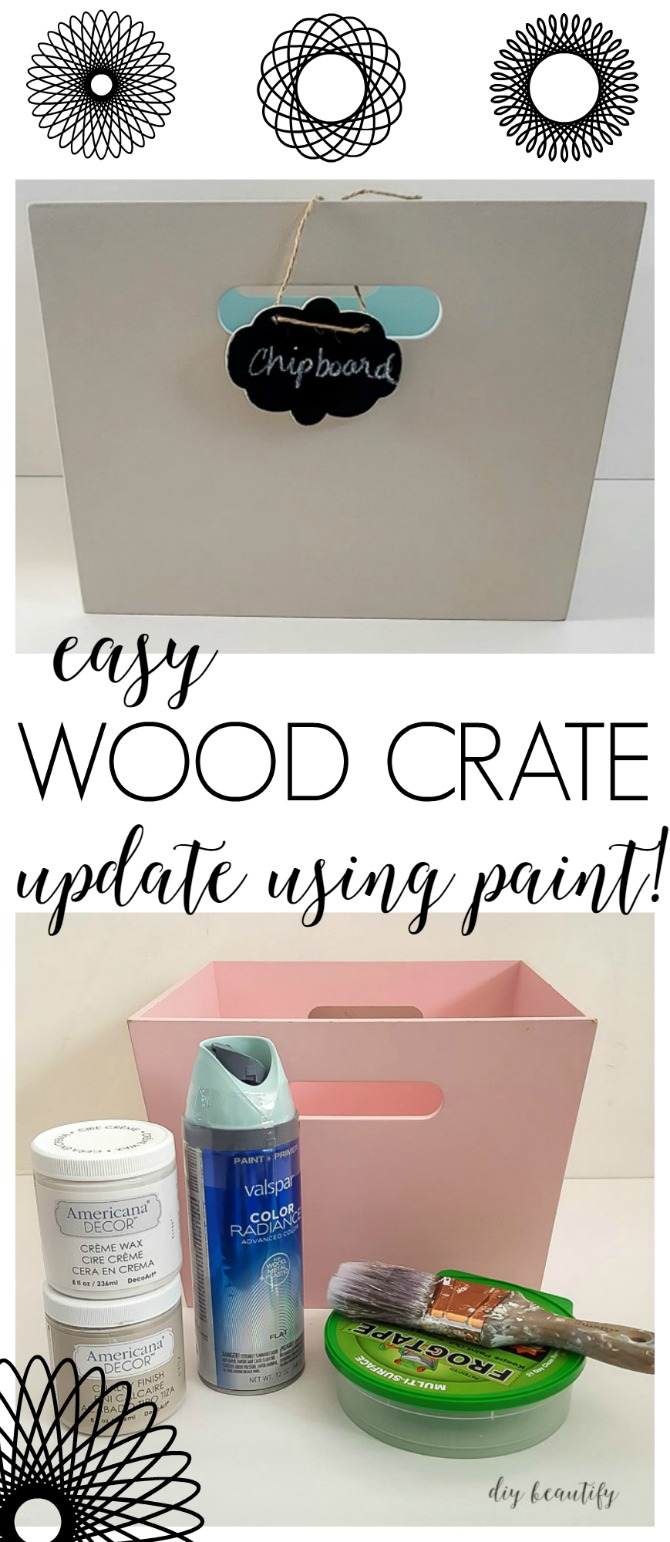painted wood crate update