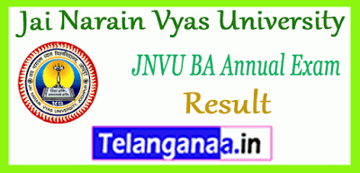 JNVU Jai Narayan Vyas University BA 1st 2nd 3rd Year Result
