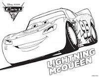 Disney Pixar's Cars 3 colouring page - Lightning McQueen