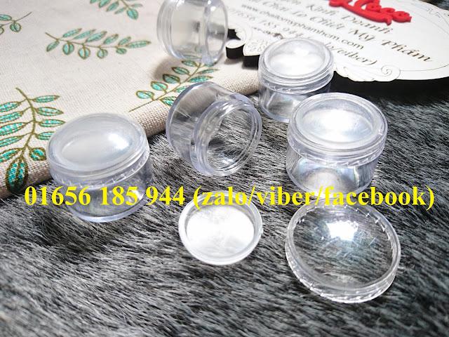 Hũ nhựa trong 5ml có nắp lót