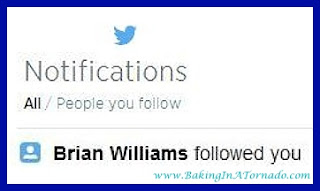 Brian Williams Follow | www.BakingInATornado.com