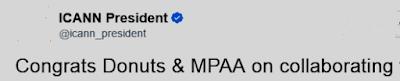 ICANN President & CEO congratulates Donuts & MPAA