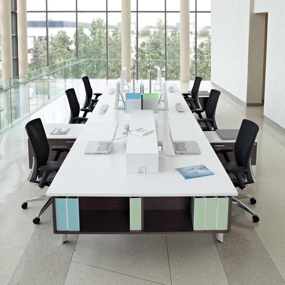 office anything furniture blog fall fashion open concept Modern Modular Office Furniture Open Floor Plan Office Design
