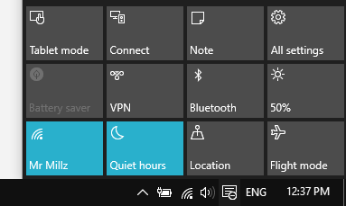 all settings for windows 10