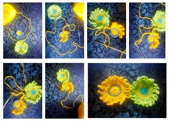 flores, tejer, margaritas, ganchillo, crochet, tutoriales, manta