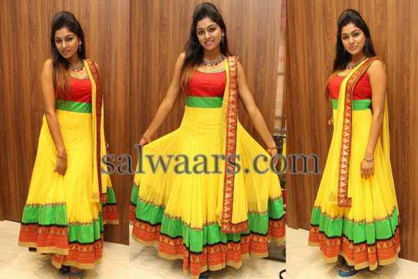 Sai Akshitha Yellow Salwar