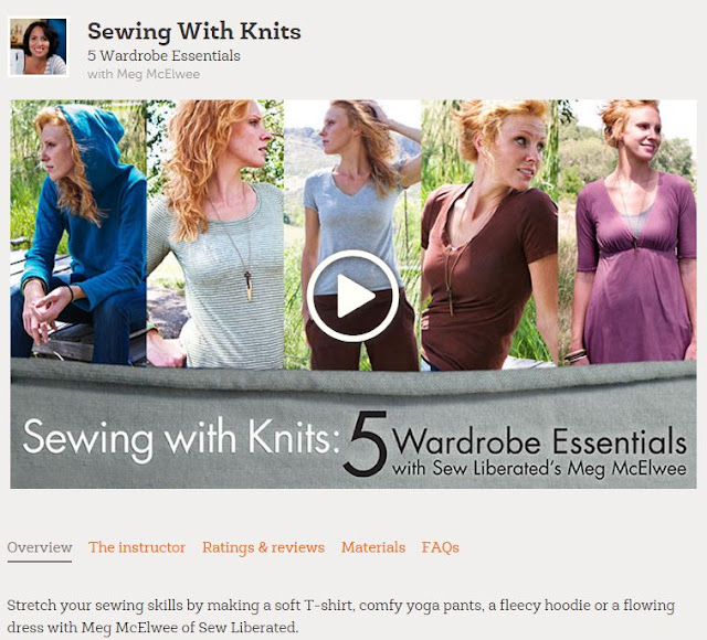 Craftsy review of Sewing with Knits