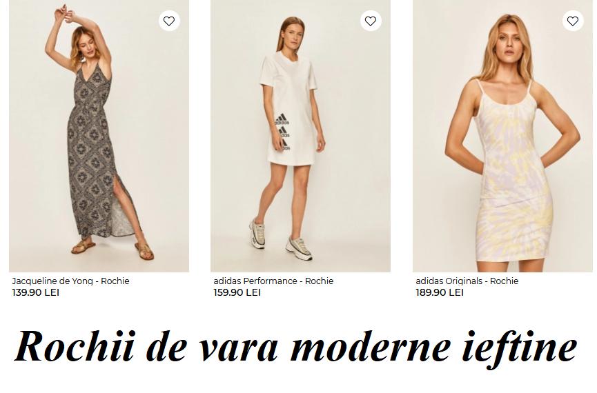 Rochii scurte / lungi  de vara modele noi 2020 ieftine si frumoase la moda