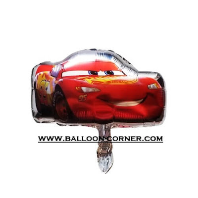 Balon Foil Cars Mini (Dasar Silver)
