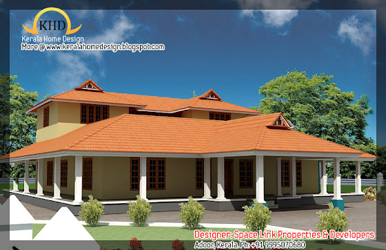 Kerala Nalukettu House Plan And Elevation 2750 Sq Ft