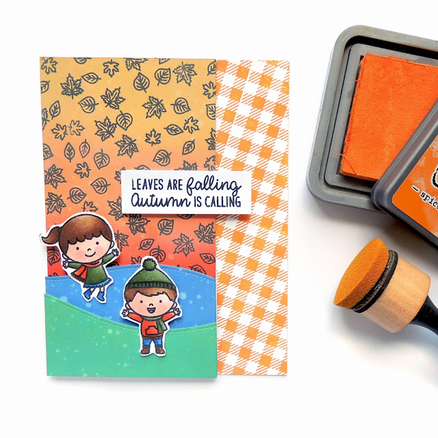 Sunny Studio Stamps: Fall Kiddos Customer Card by Creations Galore