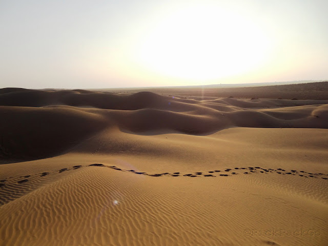 Sunset at Sam Sand Dunes - Jaisalmer Rajasthan - Pick, Pack Go