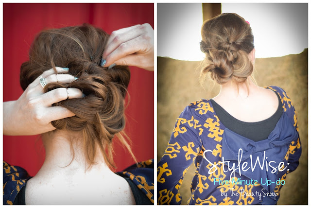 wedding hair style, five minute updo, easy hair style