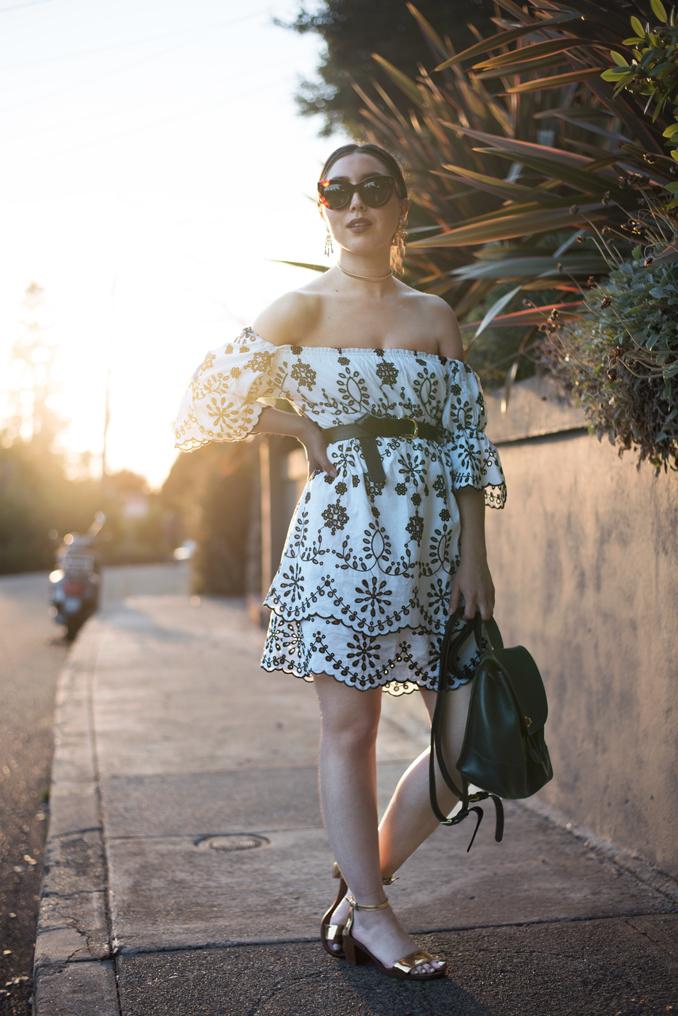 ReadyTwoWear: Belted embroidered sundress