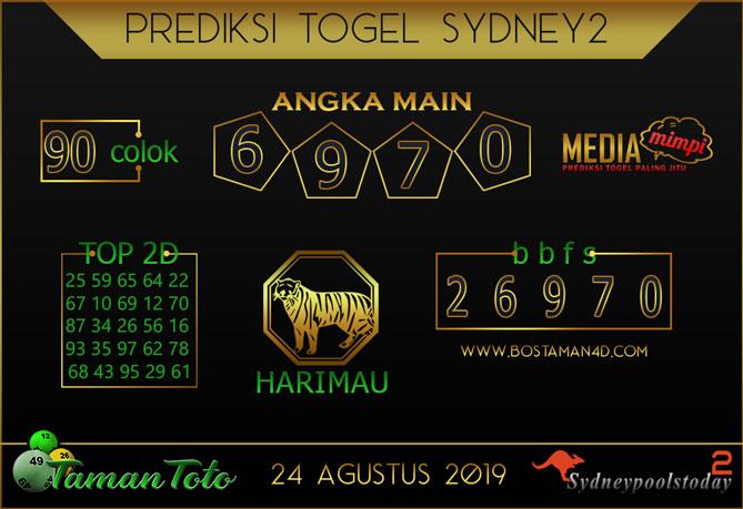 Prediksi Togel SYDNEY 2 TAMAN TOTO 24 AGUSTUS 2019