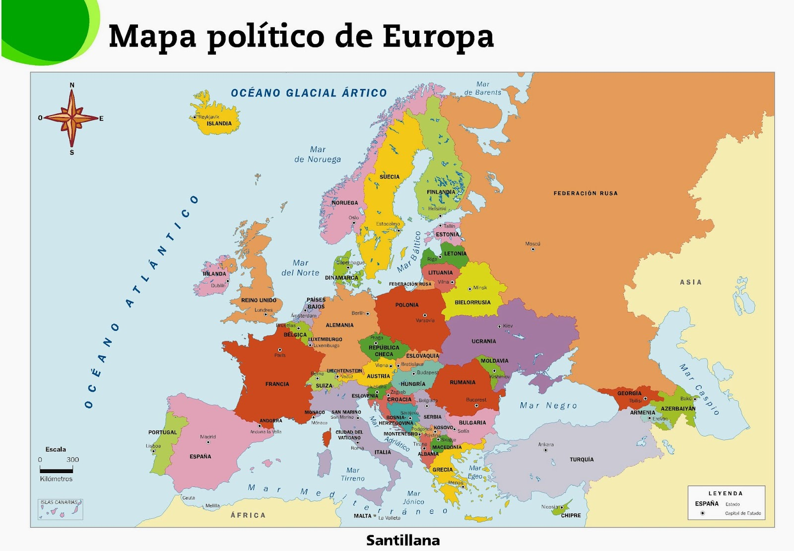 Map Of Europe And Its Capitals.English Macaroon European Countries And Their Capitals