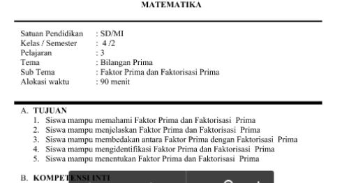 RPP Matematika Kurikulum 2013 Kelas 4 SD/MI Terbaru ~ Media Untuk Belajar