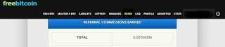 Dapat bitcoin 0.00760285 BTC gratis dari Referral freebitco.in