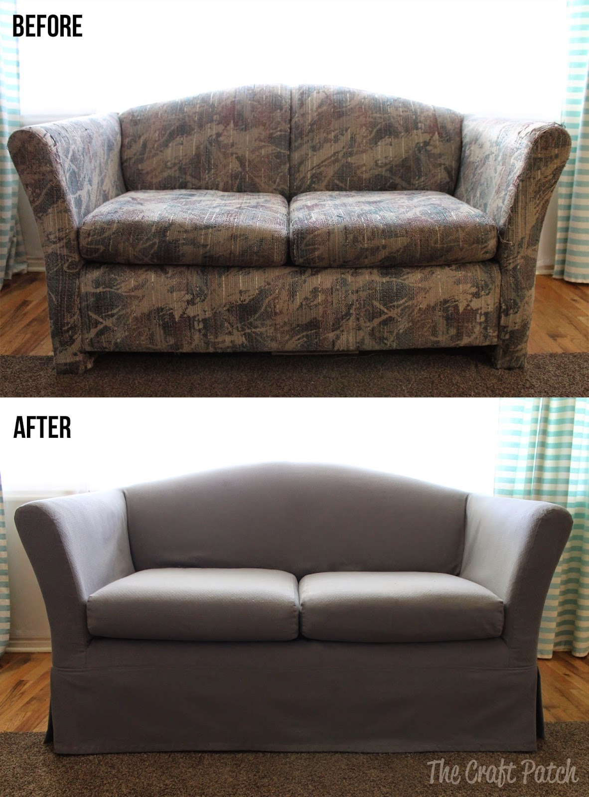 The Saving of An UGLY Couch  thecraftpatchblogcom