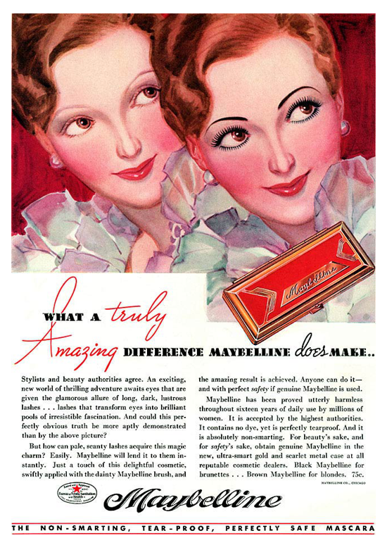 Maybelline ad 1934